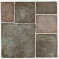 Terracotta  Self Adhesive Vinyl Floor Tiles 11 Tiles 1 Square Meter Dc Floor
